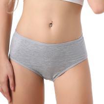 TEERFU 5Pack Womens Bamboo Brief Soft Underwear Breathable Panties 5Colors