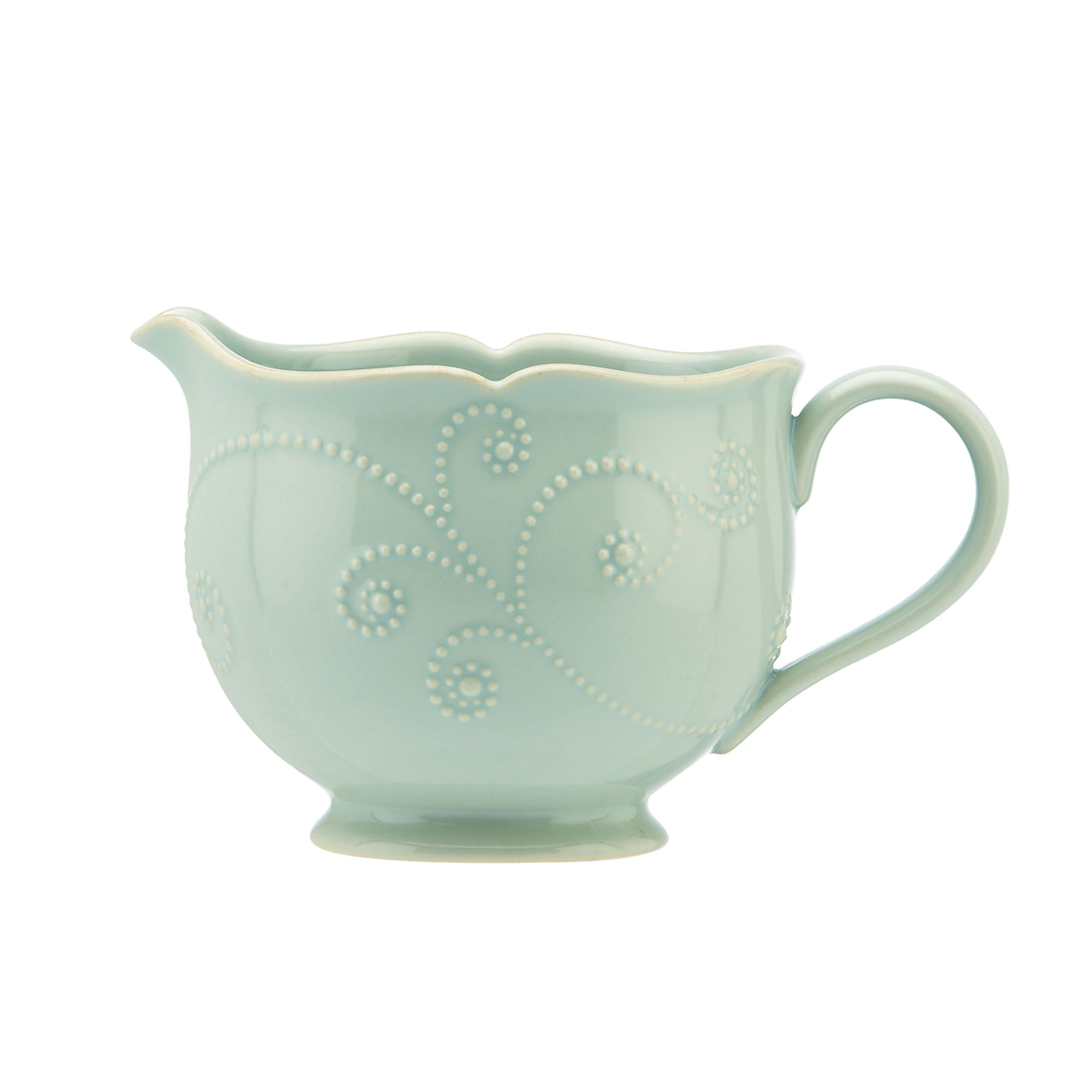Lenox French Perle Sauce Pitcher, Ice Blue