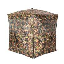 Vulture Pop-up Portable 2-4 Person Ground Hunting Blind, Camo Pattern, Oxford Fabric Hunting Blinds