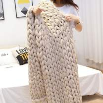 """EASTSURE Chunky Knit Blanket Bulky Sofa Throw Hand-Made Super Large Chair Mat Rug,Beige,60""""x80"""""""
