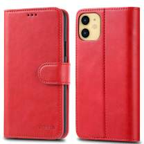 JOYSIDEA iPhone 11 Wallet Case with Card Holder, Premium PU Leather Slim Flip Folio Case with Kickstand and Shockproof TPU Cover for iPhone 11 6.1 inch, Red