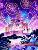5D Diamond Painting,Full Drill Diamond Art, Diamond Painting Kits for Adults Home Wall Decor Gift (18x14 inch Castle02)