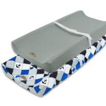 Super Soft and Stretchy Changing Pad Cover 2pk by BlueSnail (Navy Anchor)