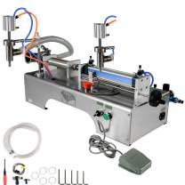 BestEquip 5-100ml Liquid Filling Machine, 0.4-0.6MP Pneumatic Bottle Filling Machine, Air Pressure Semi-automatic Bottle Filler, with Single Head, for Liquids Oil