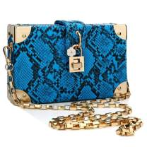 Box Bag Snakeskin Pattern Crossbody Bag for Women Shoulder Handbags Clutch Purses for Daily Use Travel Work