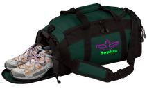 Personalized Cheerleading Gym Duffel Bag with Custom Text   Sports Bag with Customizable Embroidered Monogram Design (Hunter)