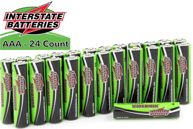 Interstate Batteries AAA All-Purpose Alkaline Battery 24 Pack - Workaholic (DRY0075)