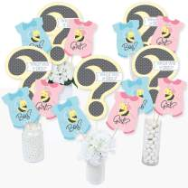 What Will It Bee - Gender Reveal Centerpiece Sticks - Table Toppers - Set of 15