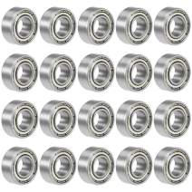 uxcell 686ZZ Deep Groove Ball Bearing 6x13x5mm Double Shielded Chrome Steel Bearings 20-Pack