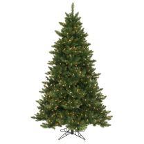 Vickerman Pre-Lit Camdon Fir Tree with 450 Warm White Italian LED Lights, 5.5-Feet, Green
