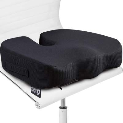 Seat Cushion Pillow For Office Chair 100 Memory Foam Soft Coccyx Pad Tailbone Sciatica Lower Back Pain Relief Contoured Posture Corrector For Car Wheelchair Computer And Desk Chairs