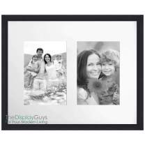 """The Display Guys - Black Wooden Square Profile Collage Picture Frames - Wall Mounting - Two 5"""" x 7"""" - Value 12-Pack"""