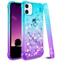 Ruky iPhone 11 Case, Gradient Quicksand Series Designed for iPhone 11 6.1 inches (2019) (Teal Purple)