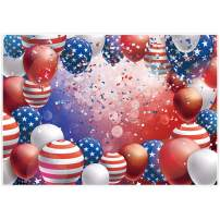 Allenjoy 7x5ft 4th of July Photography Backdrop Supplies for Independence Day Party Decors Customizable Veterans Patriotic American Flag Stars and Stripes Ballons Studio Photoshoot Props Favors Banner