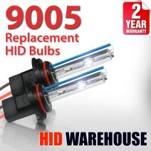 HID-Warehouse AC HID Xenon Replacement Bulbs - 9005 6000K - Light Blue (1 Pair) - 2 Year Warranty