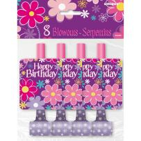 Blossom Birthday Party Blowers, 8ct