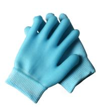 2 pcs Moisturizing Spa Gloves Moisturizing Gel Gloves Gel Line with Essential Oils and Vitamin E (Blue)