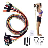 BAIGEWA 2020 Newest Resistance Bands, Exercise-Bands, Home Gym Bands for Arms, Legs and Full Body Training,Carry Bag Included.