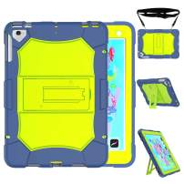 Venoro iPad 9.7 2018/2017 Case, iPad Pro 9.7 Case, Shockproof Defender Protective Case Cover with Kickstand Compatible iPad 6 / iPad 5 / iPad air / A1823 / A1822 / A1893 / mp252ll (Blue)