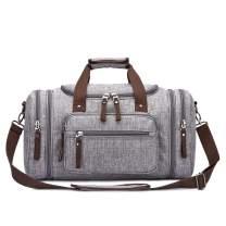 Toupons Men's Travel Duffle Bag Weekender Overnight Bag Water-resistance (Grey-New)