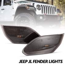 Front LED Turn Signal Lights Compatible with 2018-2020 Jeep Wrangler JL Turn Lamp Fender Side Maker Parking Lights