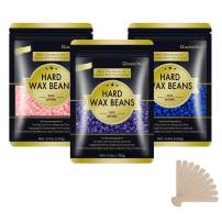 Hard Wax Beans for Painless Hair Removal, Wax Beads for Sensitive Skin, Full Body Hair Removal Waxing Beads, for Bikini Brazilian, Armpit, Back and Chest, for Hair Removal Wax Warmer (Mixed)