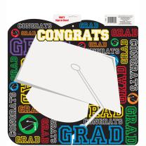 """Graduation Party Guest Sign In Sheet Decoration, 18"""" x 18"""""""