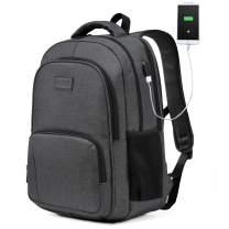 Laptop Backpack,VASCHY Water Resistant Travel Backpack for Men Women USB Port