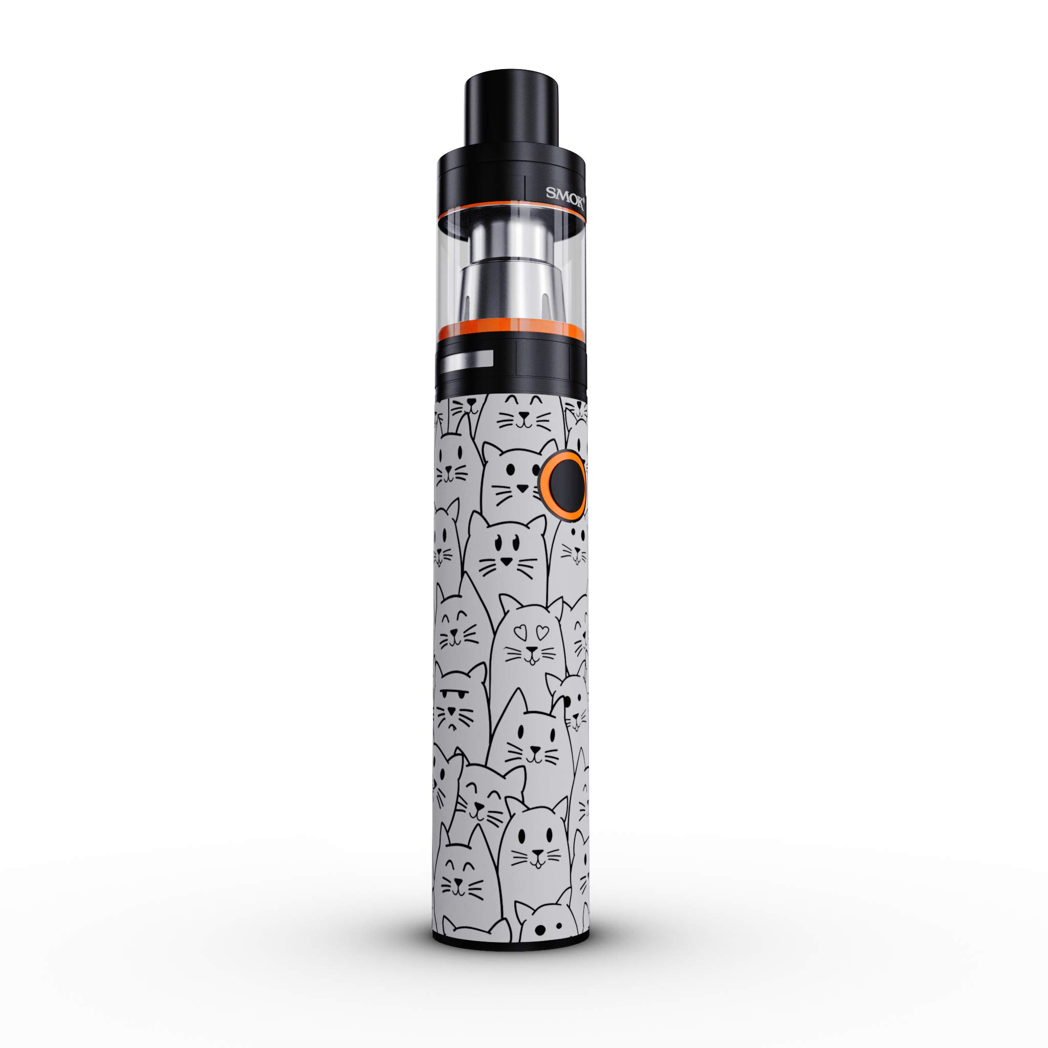 SMOK Stick V8 Skin Decal - Moody Cats - Sticker Wrap (Device not Included)