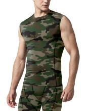 TSLA 1 or 3 Pack Men's Sleeveless Workout Shirts, Dry Fit Running Compression Cutoff Shirts, Athletic Training Tank Top