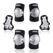 Protective Gear for Kids, Kids Knee Pad Elbow Pads Guards 3 in 1 Protective Gear Set for Skating Cycling Bike Rollerblading Scooter