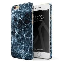 BURGA Phone Case Compatible with iPhone 6 Plus / 6s Plus - Dark Ice Blue and Black Marble Cute Case for Girls Thin Design Durable Hard Shell Plastic Protective Case