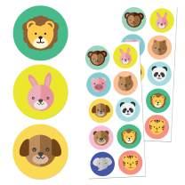"Zoo Animals Children Stickers, 1.5"" - 20 Sheets, 200 Stickers"