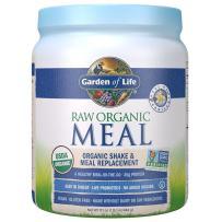 Garden of Life Meal Replacement Vanilla Powder, 14 Servings, Organic Raw Plant Based Protein Powder, Vegan, Gluten-Free