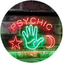 "ADVPRO Psychic Reader Star Moon Boutique Bedroom Décor Dual Color LED Neon Sign Green & Red 16"" x 12"" st6s43-i3088-gr"