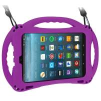 TopEsct Kid-Proof Case for All-New Amazon Fire HD 8,Compatible with 7th and 8th Generation Tablets, 2017 and 2018 Releases,Handle Stand Cover Case for Kids (Purple)