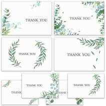 Thank You Cards with Envelopes, Set of 80 Thank You Notes Watercolor Floral Thank You Cards with Floral Stickers - Greeting Cards Assortment for Graduation Mother's Day, 4×6 Inches