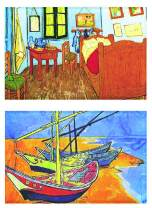 """Buttonsmith VanGogh Bedroom Magnet - Set of 2 1.75"""" x 2.75"""" Rectangle Magnets - Made in the USA"""