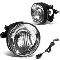 Replacement for Chevy Tahoe/Subrban 1500 Pair of Bumper Driving Fog Lights + Wiring Kit + Switch (Clear Lens)