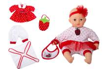 """16"""" Soft Body Baby Doll Eyes Open/Close Girl's Gift Toy Set - Making 6 Sounds with IC - Perfect for Kids 3+"""