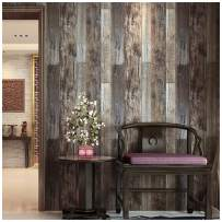 """HAOKHOME 5003 Reclaimed Wood Plank Wallpaper Barnwood 20.8"""" x 31ft Brown/Grey Removable Wall Paper Wall Murals for Home Bathroom Bedroom Kitchen Decorative"""