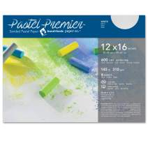 Speedball Art Products Premier Sanded Pastel Paper, 12 x 16, White Fine Grit 6 Count