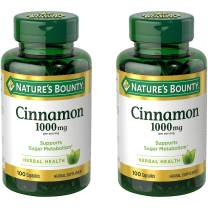 Nature's Bounty Cinnamon 1000 mg, 100 Capsules (Pack of 2)