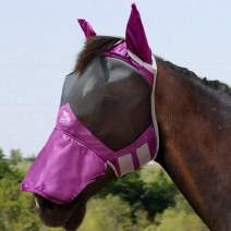 Harrison Howard Horse Fly Mask Superb Nose Protection with Ears UV Protection for Horse