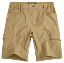 WenVen Men's Casual Lightweight Outdoor Quick Dry Shorts with Pockets