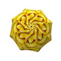 Cute Yellow Flower Umbrella Rose Design - Designer Floral Umbrella for Women - Windproof Auto Open Close - Travel Lightweight Rain Umbrella - Compact Portable Umbrella - Small Folding Umbrella by LB