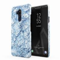 BURGA Phone Case Compatible with LG G7 Case Arctic Winter Blue Topaz Snow Frost Ice Marble Cute for Girls Thin Design Durable Hard Shell Plastic Protective Case
