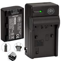 Big Mike's BM Premium NP-FH50 Battery and Charger for Sony CyberShot DSC-HX1 DSC-HX100V DSC-HX200V HDR-TG5V DSLRA230 DSLRA290 DSLRA330 DSLRA380 DSLRA390 Digital SLR Cameras