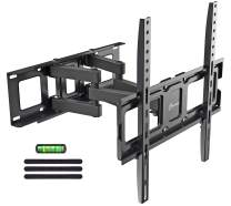 "Dual Articulating Arms TV Wall Mount Bracket fits to Most 32""-55"" inch LED,LCD,OLED Flat Panel TVs, Tilt Full Motion Swivel 14.1"" Extension, Max VESA 400X400, 80lbs Loading-by EVERVIEW"