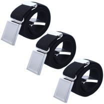 3 PCS Kids Adjustable Magnetic Belts - Easy to Use Magnetic Buckle Belt for Boys and Girls